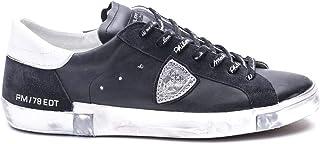 Luxury Fashion | Philippe Model Men PRLUMA01 Black Leather Sneakers | Spring-summer 20