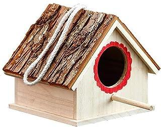 Creative Wooden Bird Houses Nest For Dove Finch Wren Sparrow Small Animal Hummingbird Bird Cage
