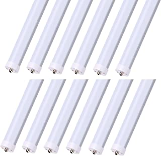 CNSUNWAY LIGHTING 8FT LED Tube Lights, 45W (100W Equivalent), Dual-Ended Power, Ballast Bypass, 4800LM, 6000K, Frosted Cover, 8FT Fluorescent Light Fixtures Replacement - 12 Pack