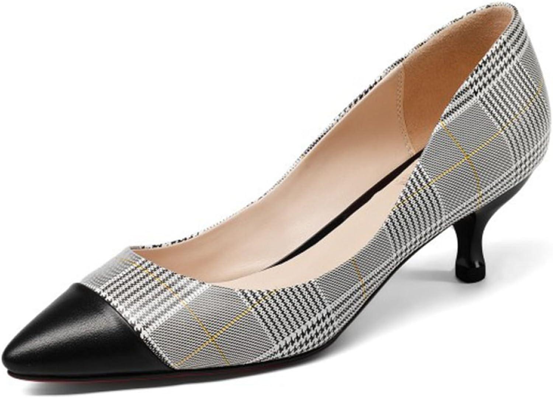 Eleganti Sautope A Punta Per Le Dita Da Donna Slip On Kitten Heels Per Wedding Party Office Stiletto sautope