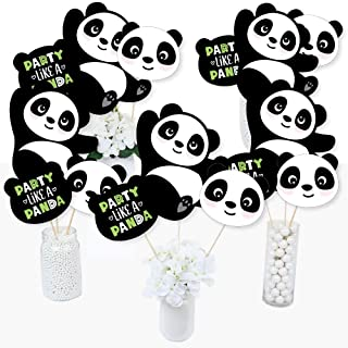 Party Like a Panda Bear - Baby Shower or Birthday Party Centerpiece Sticks - Table Toppers - Set of 15