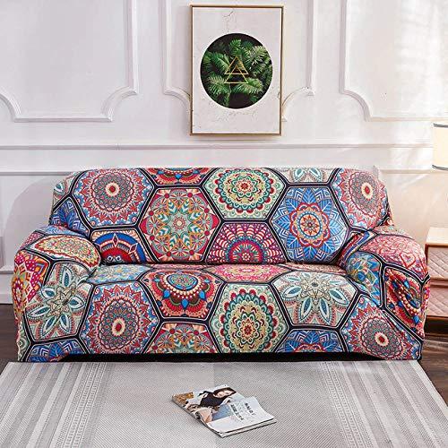 Spandex SofabezugMuster Sofabezüge Sofa Handtuch Wohnzimmermöbel Schutz Sessel Sofas, Farbe B, 1, Sitz 90.140cm