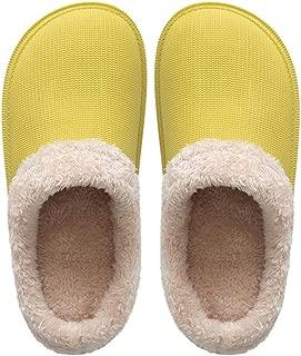 Liveinu Unisex Furry Mule Slippers Indoor Non Slip Winter Memory Foam Plush Polar Fleece Lined House Slippers