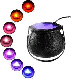 vaso per nebbia di Halloween Godob calderone da strega e 12 LED che cambiano colore nebbia Maker per Halloween Party