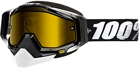 100% Racecraft Adult Snowmobile Goggles - Abyss Black/Yellow Lens/One Size