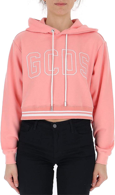 GCDS CC94W02007106 Women's Pink Cotton Sweatshirt