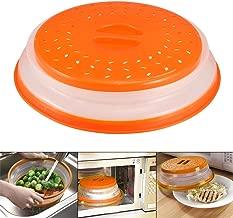sans BPA et passe au lave-vaisselle Orange 29,5 cm 100/% de qualit/é alimentaire Bezrat Couvercle en verre pour micro-ondes avec poign/ée en silicone facile /à prendre en main