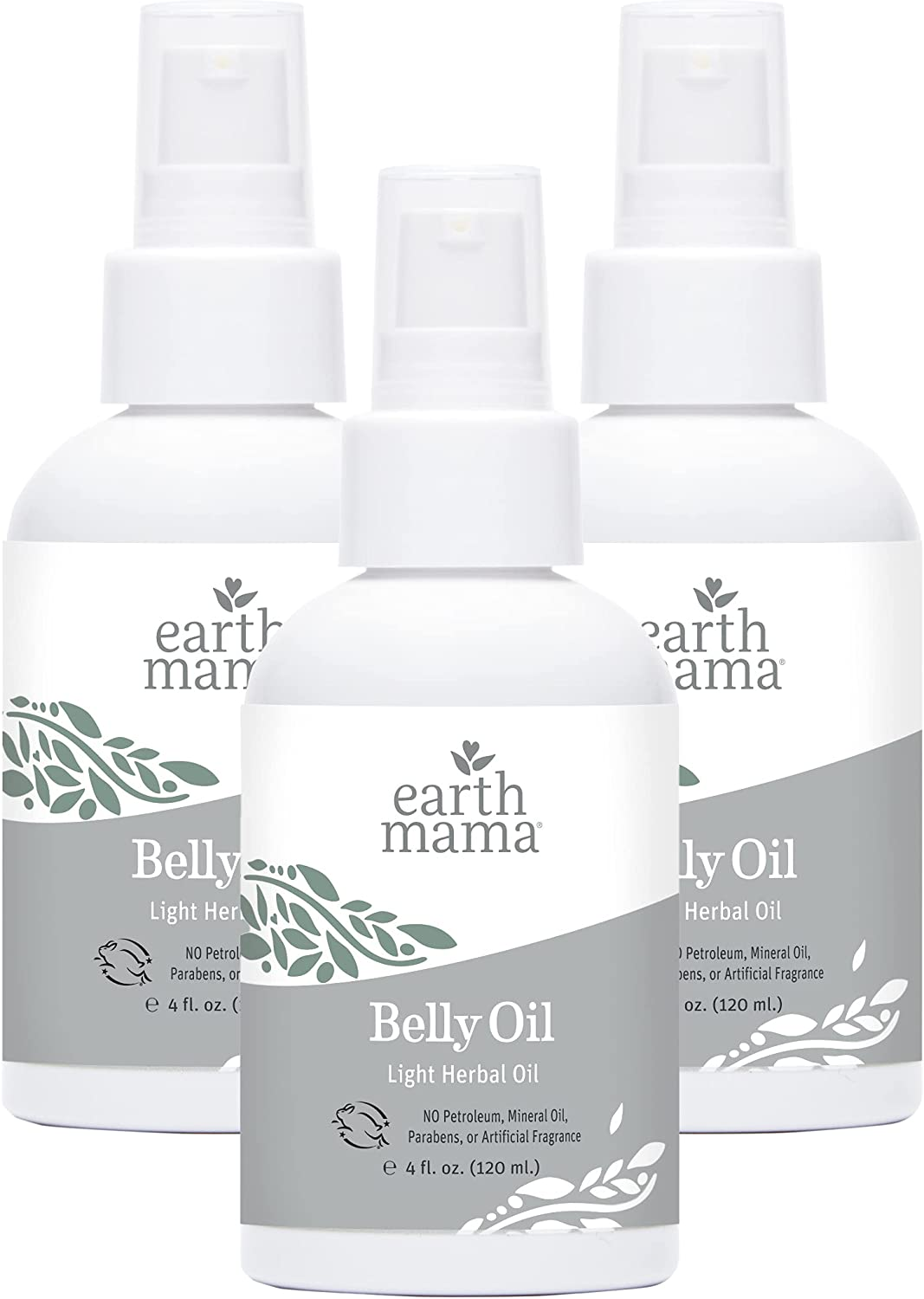 Belly Oil by Earth Mama | To Safely Moisturize and Promote Skin's Natural Elasticity During Pregnancy and to Ease the Appearance of Stretch Marks, 4-Fluid Ounce (3-Pack)