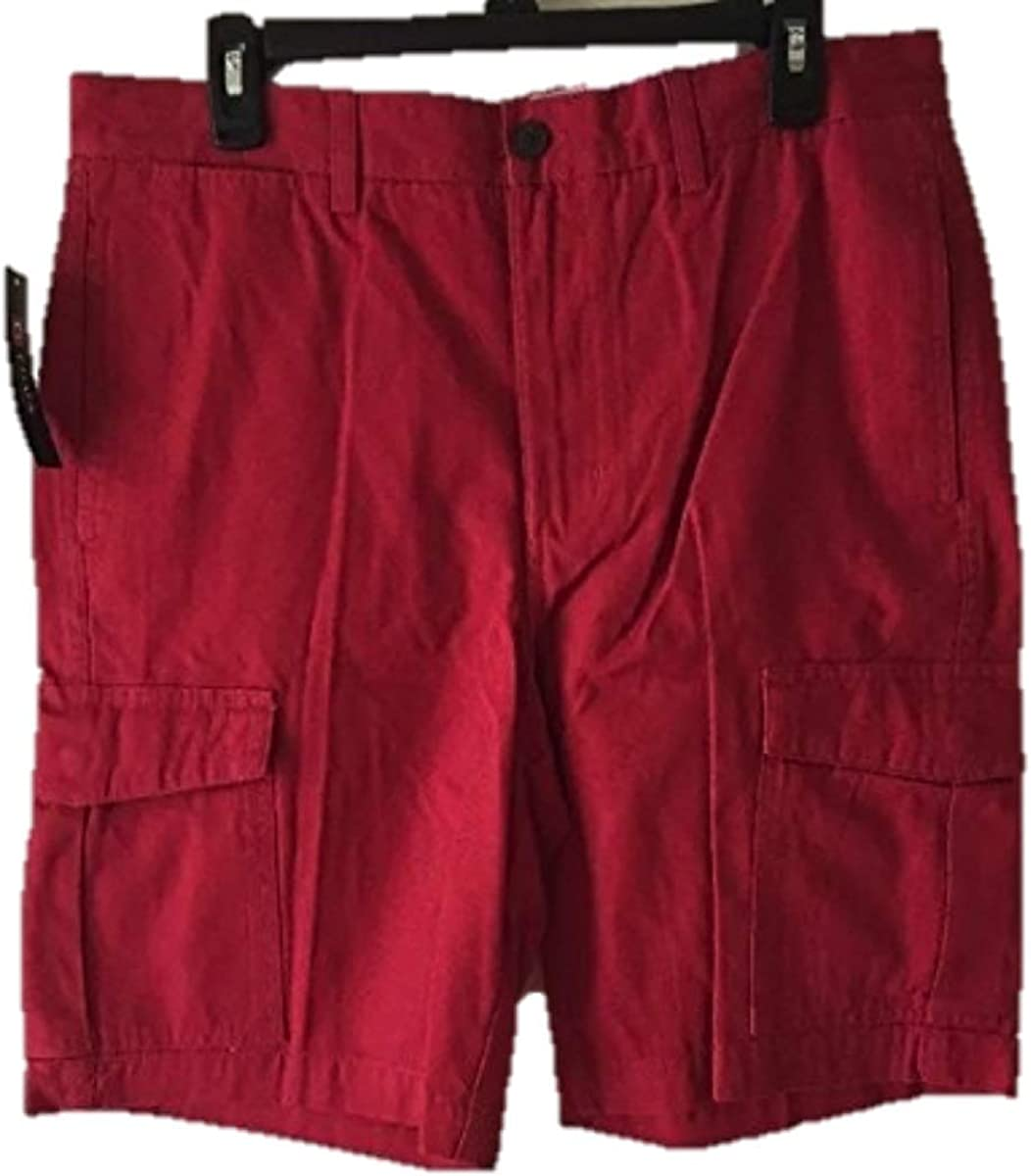 Chaps Flat Front Cargo Short red Size 34
