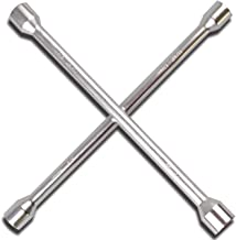 "CARTMAN 14"" Heavy Duty Universal Lug Wrench, 4-Way Cross Wrench"