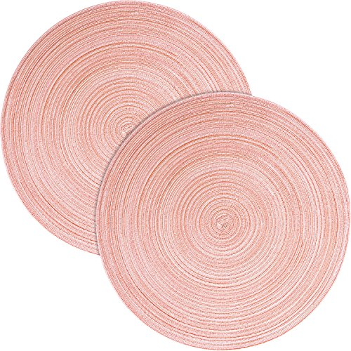 Pichler Tischset Samba 2er-Pack rosé Größe oval: 33x48 cm