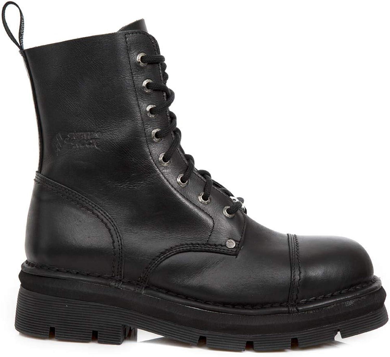 New Rock New Mili-083 S14 Schwarze Gothic Stiefel Stiefel Stiefel Military Unisex 8 Loch Biker Schuhe  9db32e