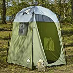 Lumaland Outdoor Pop Up Shower Tent Dressing Tent Privacy Toilet Tent Standing Height 2.05 m Changing Tent Shelter Sunshade Camping 155x155x220 cm 4