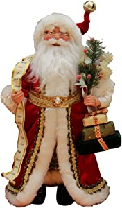"Windy Hill Collection 16"" Inch Standing Naughty or Nice Name List Santa Claus Christmas Figurine Figure Decoration 416030"