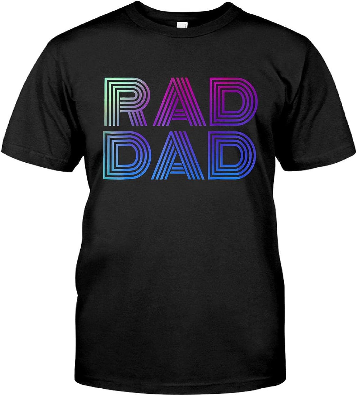 Vintage T-Shirts, Mens Mens Rad Dad 1980's Retro T-Shirt Fathers Day Shirt,Tank Top, Hoodie, Long Sleeve, Sweatshirt, Crew Neck Short Sleeve Gifts