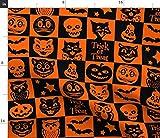 Spoonflower Stoff – Halloween Buch Fall Kürbisse Katzen