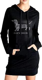 Dachshund Doxen Weiner Word Art Dog Owner Gift Women's Fashion Adult Long-Sleeved Hoodie