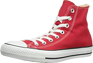 Converse Mens All Star Hi Top Chuck Taylor Chucks Sneaker Trainer - Red - 7