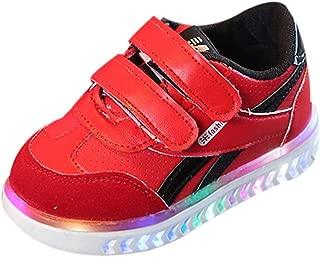 Sunward 1-6 Years Children Baby Girls Boys Letter Led Light Luminous Running Sport Sneaker Shoes