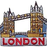 Parche bordado para planchar o coser en la ropa, diseño del puente de la Torre de Londres