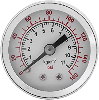 Vacuum Gauge Bottom Connection Pressure Gauge for Air Compressor Water Oil Gas 11.3 x 9 x 3.2cm//4.4 x 3.5 x 1.3in