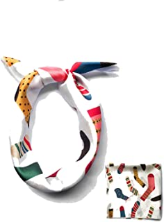 Hair Scarf Tie Animal Print Luxury Satin Small Square Silk Neck Ring Winter Head Scarf For Wome Neckerchief