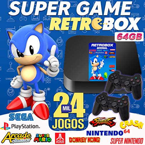 Vídeo Game Retro Gamer Box 24000 Jogos + 2 Controle Usb