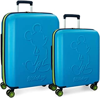 Disney Luggage Set, Blue (Azul), 68 centimeters