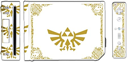 Legend of Zelda Triforce Logo Special Edition White Gold Game Vinyl Decal Skin Sticker Cover for the Nintendo Wii System Console