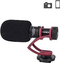Comica CVM-VM10II Camera Microphone Directional Condenser Shotgun Video Microphone for Canon, Nikon, Fuji, Sony, Panasonic, Olympus DSLR Cameras, Smartphones etc.(with Wind Muff)