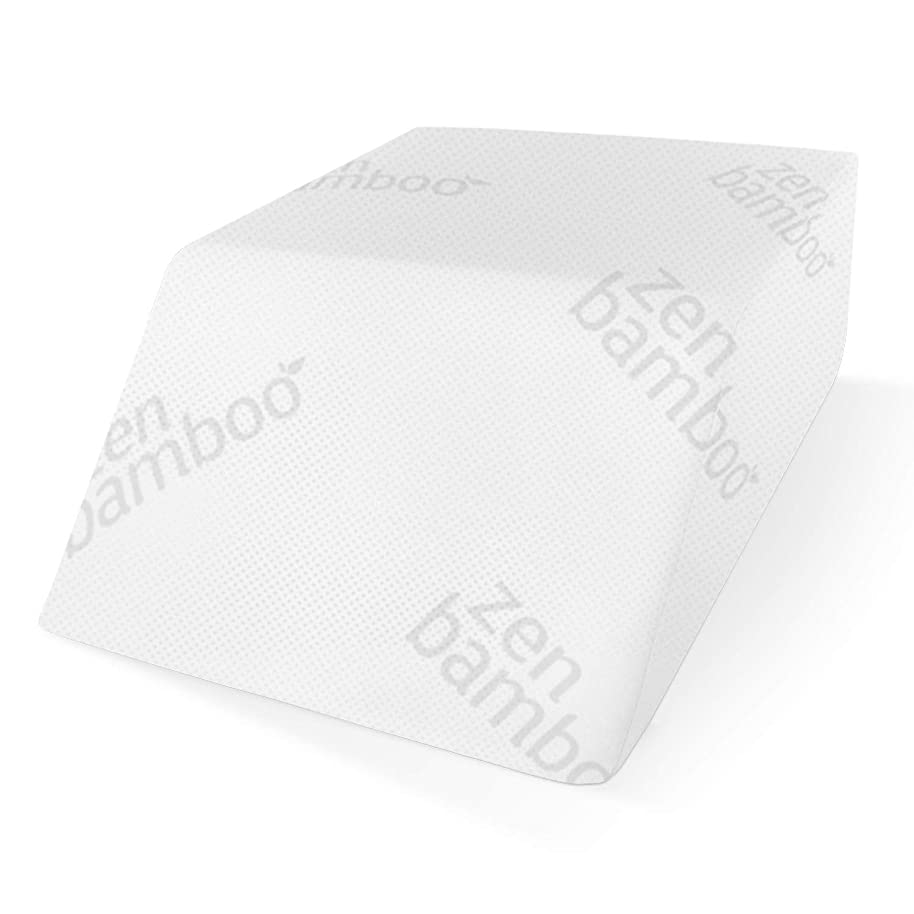 Zen Bamboo Elevating Leg Rest Pillow, Foam?Wedge?Pillow - Reduces Back Pain and Improves Circulation - Includes Removable Bamboo Blend Cover