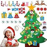 Sapin Feutrine pour Enfants,DIY Feutre Arbre De Noël,Sapin Feutrine a Decorer,Ornements Détachables Cadeaux de Noël,Sapin de Noel en Feutre pour Enfant