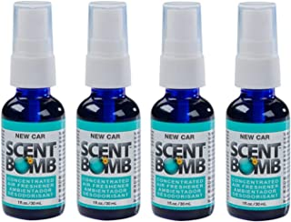Scent Bomb Super Strong 100% Concentrated Air Freshener - 4 PACK (New Car)