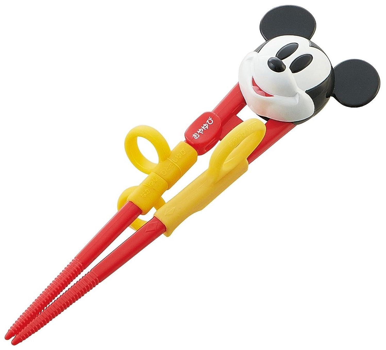 うまくいけばみ黒スケーター DX トレーニング箸 子供用 練習箸 14cm ミッキーマウス ディズニー ADXT1
