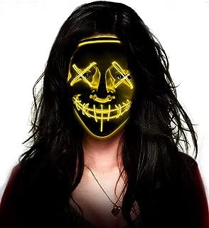 LED Purge Mask - Aditomo Halloween mask LED mask Light Up mask for Halloween Festival Party Costume