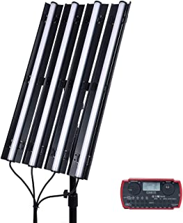 CAME-TV 4-Pack Boltzen Andromeda 2FT-R4 RGB LED Video Light with BLEDC01 Commander,2FT Slim Tube Light Full Color Output CRI96+ TLCI97+ 2000K-10000K for Filmmaking Photography,Barn-Door,Carry Bag