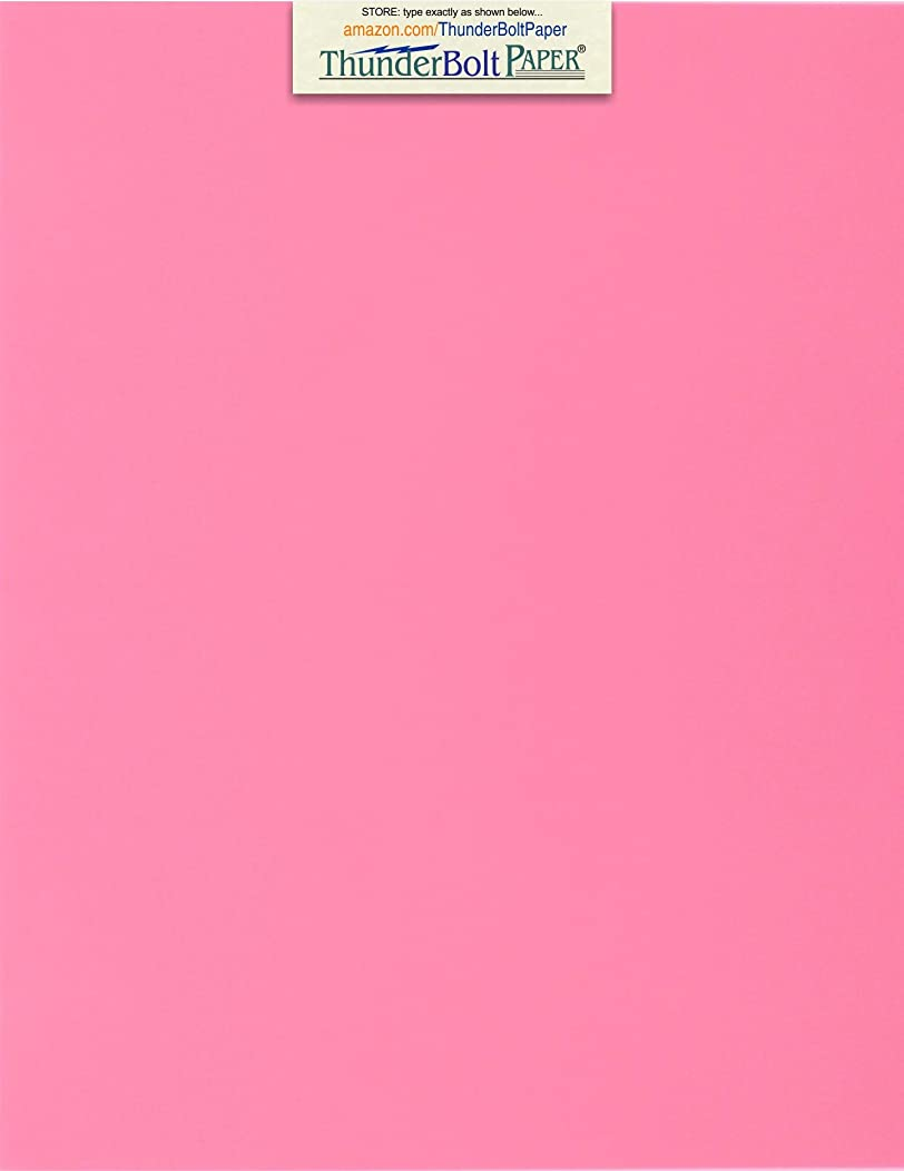 50 Bright Pink 65lb Cover|Card Paper - 8.5 X 11 Inches Standard Letter|Flyer Size - 65 lb/Pound Light Weight Cardstock - Quality Printable Smooth Surface for Bright Colorful Results