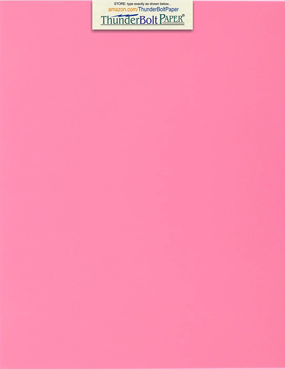 50 Bright Pink 65lb Cover|Card Paper - 8 X 10 Inches Photo & Picture-Frame Size - 65 lb/Pound Light Weight Cardstock - Quality Printable Smooth Surface for Bright Colorful Results