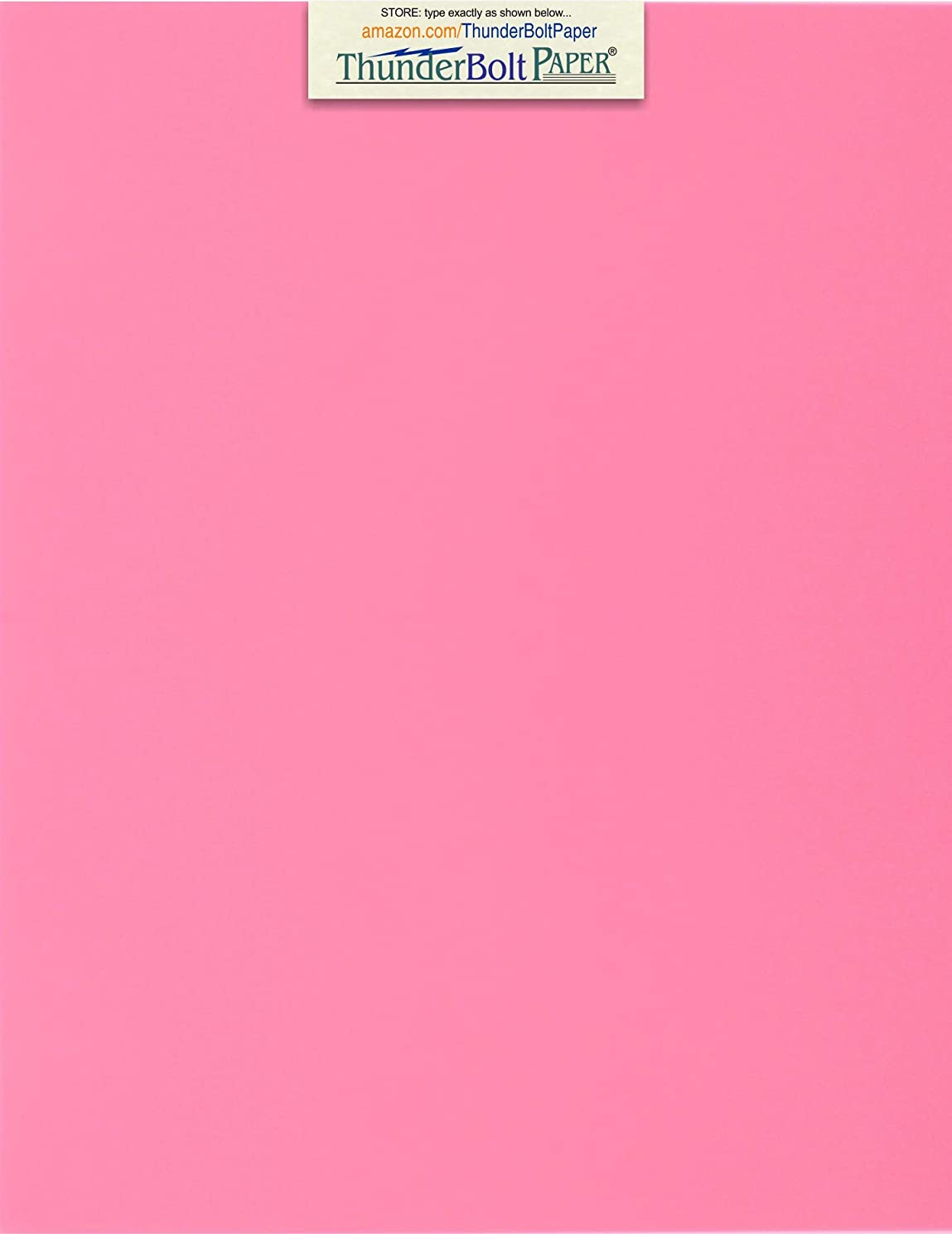 100 Bright Pink 65lb Cover|Card Paper - 8.5 X 11 Inches Standard Letter|Flyer Size - 65 lb/Pound Light Weight Cardstock - Quality Printable Smooth Surface for Bright Colorful Results