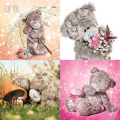 Me To You Tatty Teddy 3D Holographic Cards - Assorted Pack of 4