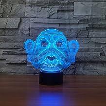 JYHW 7 kleuren veranderende slaap-LED bureaulamp 3D Vision Big Head nachtlampje groot gezicht oor lamp slaapkamer home par...