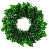DecoKing - Corona de Navidad (50 cm, plástico), diseño de pino, color aguamarina