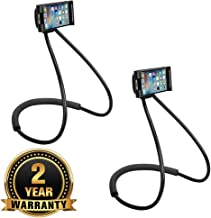 Cospex [Buy ONE GET ONE Free] 360 Degree Auto Adjustable and Flexible Mobile Phone Stable and Reliable Lazy Neck Holder Stand