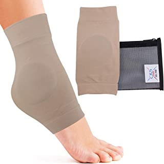 CRS Cross Ankle Malleolar Gel Sleeves - Premium Padded Skate Sock with Ankle Bone Pads for Figure Skating, Hockey, Inline, Roller, Ski, Hiking or Riding Boots. Ankle Protector & Cushion