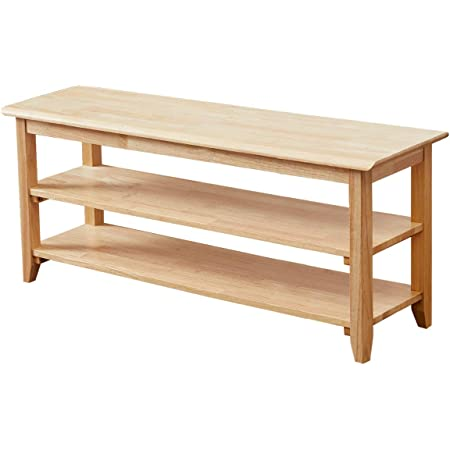 """TinyTimes Shoe Bench, 3-Tier Wood Heavy Duty Shoe Rack Bench, Shoe Organizer Shelf,Ideal for Entryway, Living Room, Holds Up to 550 lbs -Natural, 40"""""""