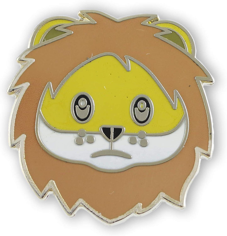 Lion Face Emoji Enamel Lapel Pin (1 Pin)