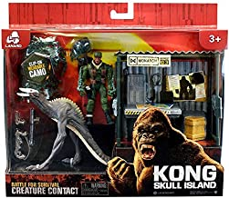 Lanard Kong Skull Island Battle for Survival Creature Contact SkullCrawler with Monarch Outpost and Figure