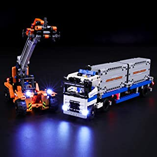 BRIKSMAX Led Lighting Kit for Technic Container Yard - Compatible with Lego 42062 Building Blocks Model- Not Include The Lego Set
