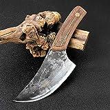 Herramienta de mano Cuchillo de carnicero Hecho a mano de acero altura Cortador de acero Kitchencheffeffeffeffefefeffeffefefeffef y Camping Cuchillo de caza cuchillo chef de