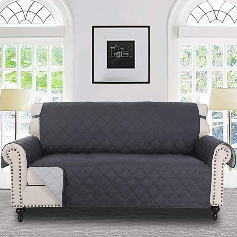 RHF Diamond Sofa Cover Couch Cover Couch Covers For 3 Cushion Couch Couch Covers For Sofa Sofa Covers For Living Room Couch Covers For Dogs Couch Protector Sofa Charcoal Grey